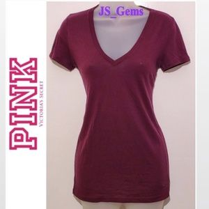 Maroon Cloth Female Essential T-Shirt Top Petite